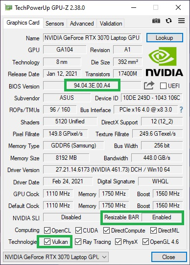 Click image for larger version.  Name:Resizable BAR Enabled with VGA BIOS Update today.jpg Views:0 Size:114.3 KB ID:88893