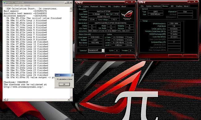 Click image for larger version.  Name:Super Pi 32M 4200MHz 7m41.094s.JPG Views:3 Size:230.3 KB ID:13919