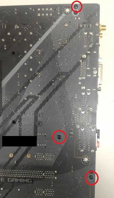 Click image for larger version.  Name:Screws to remove io for Z370-E.jpg Views:19 Size:113.9 KB ID:68912