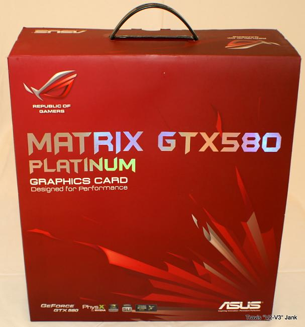ASUS Matrix GTX 580 Platinum retail box pictured