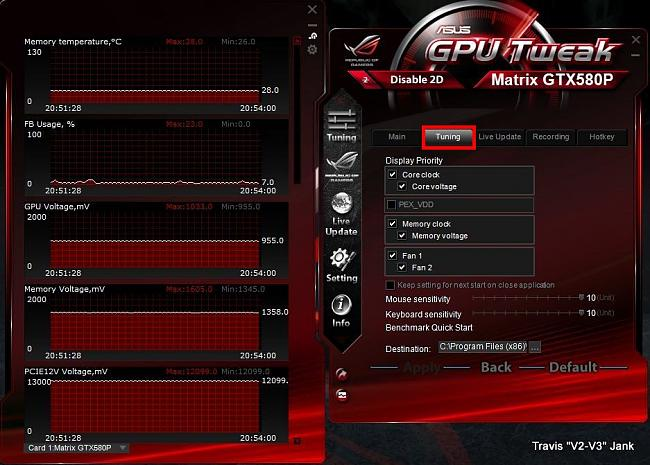 GPU Tweak Tuning Settings