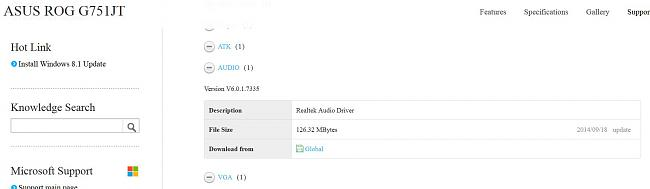 Click image for larger version.  Name:G750JT 7335 audio driver showing as available.JPG Views:121 Size:62.5 KB ID:46260