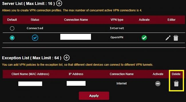 Click image for larger version.  Name:VPN Fusion -Deactivated exception list.jpg Views:0 Size:71.6 KB ID:72052
