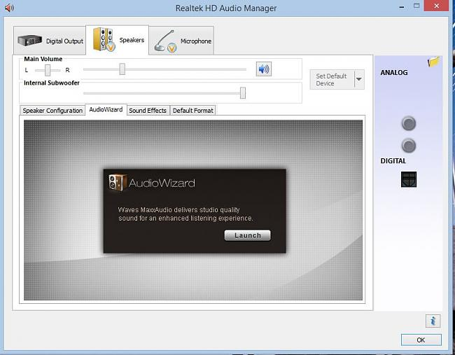 Click image for larger version.  Name:Launch Audio Wizard.JPG Views:0 Size:89.0 KB ID:36857