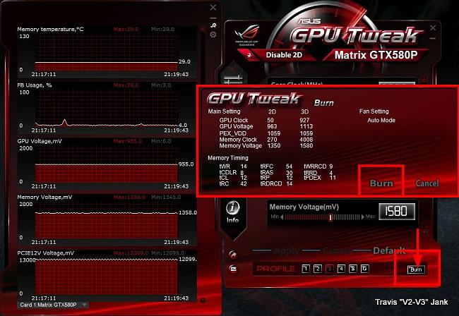 GPU Tweak OC Profile Save & Burn