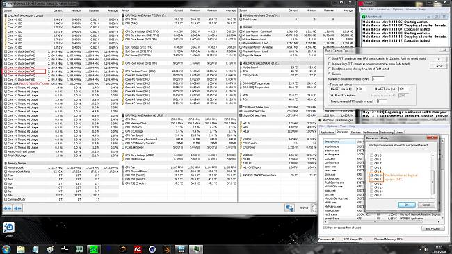 Click image for larger version.  Name:Setting up P95 v28.10B1 for 1 core load.jpg Views:73 Size:774.9 KB ID:73818