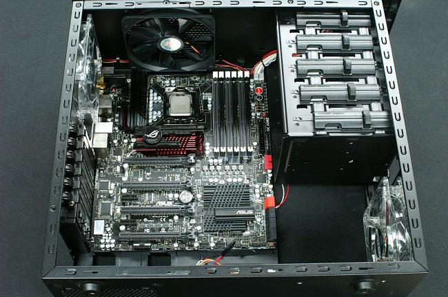 Installation of Rampage Black Edition Motherboard Into Coolermaster Storm Scout case.