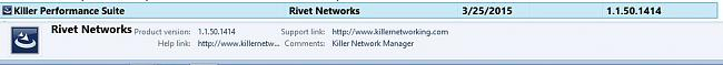 Click image for larger version.  Name:killer suite programs and features entry.JPG Views:1 Size:32.5 KB ID:47855