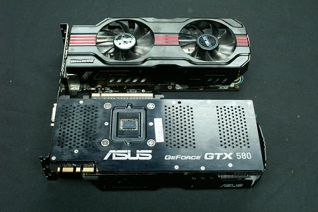 ASUS GTX580 Direct Copper II Pictured Cooler & back plate