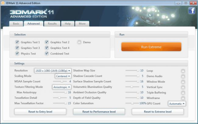 Click image for larger version.  Name:3DMark 11 settings.jpg Views:2 Size:25.5 KB ID:12538