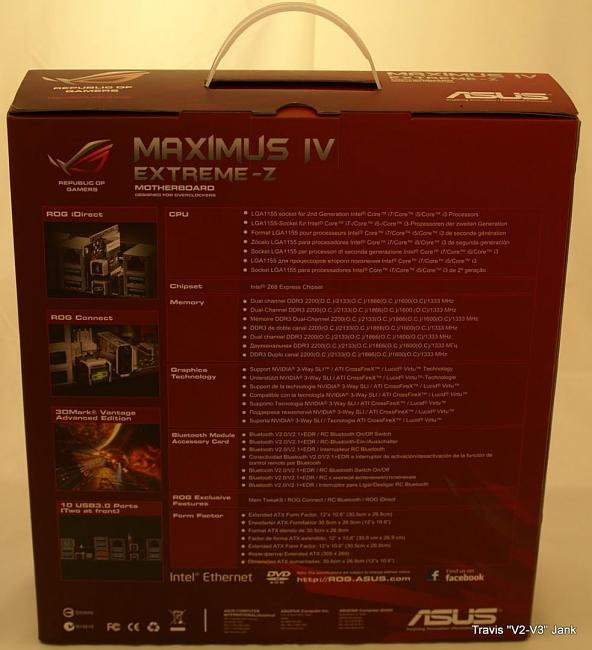 Maximus IV Extreme-z rear of the retail box
