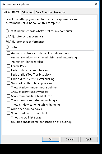 Click image for larger version.  Name:Performance options.png Views:42 Size:14.3 KB ID:65192
