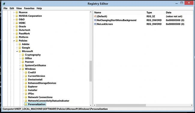 Click image for larger version.  Name:regedit policies personalization.JPG Views:2 Size:98.8 KB ID:48328