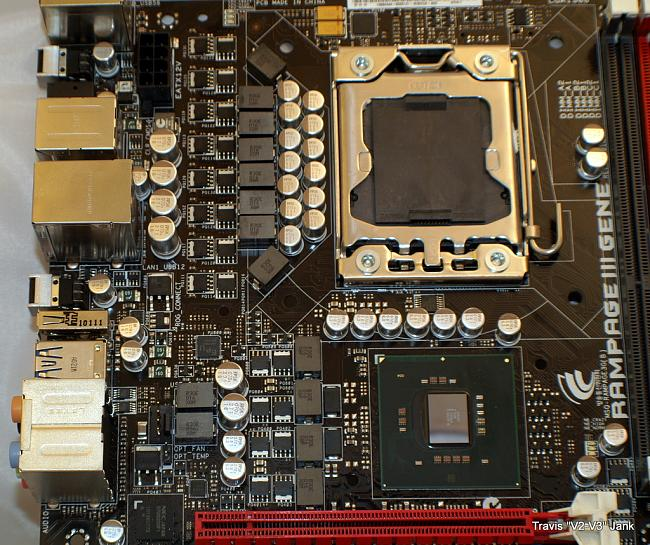 ASUS Rampage III Gene CPU and Chip set power phase design