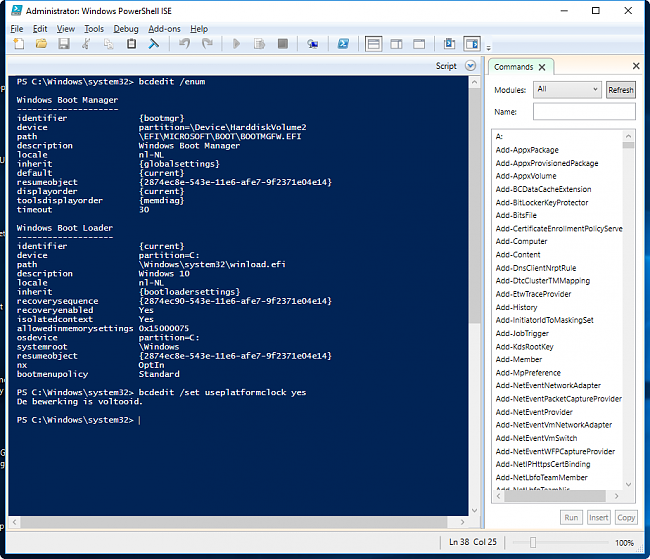 Click image for larger version.  Name:2016-07-28_Powershell_W10_HPET.png Views:25 Size:80.7 KB ID:58451