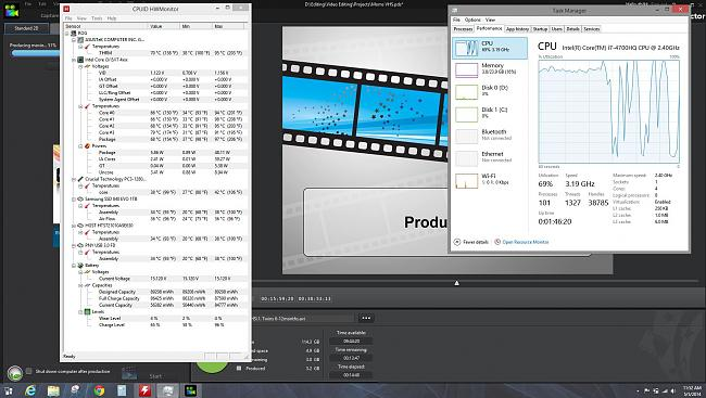 Click image for larger version.  Name:video editing temps 95 cpu throttling.JPG Views:10 Size:282.2 KB ID:36536