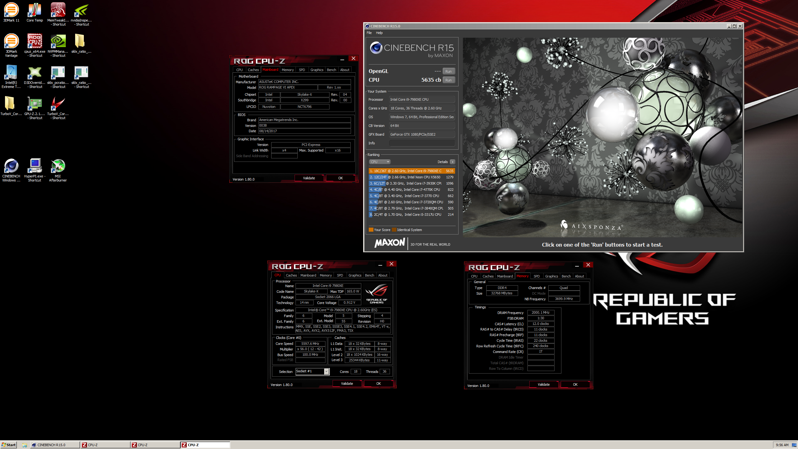 Cinebench R15 - 5635 by der8auer