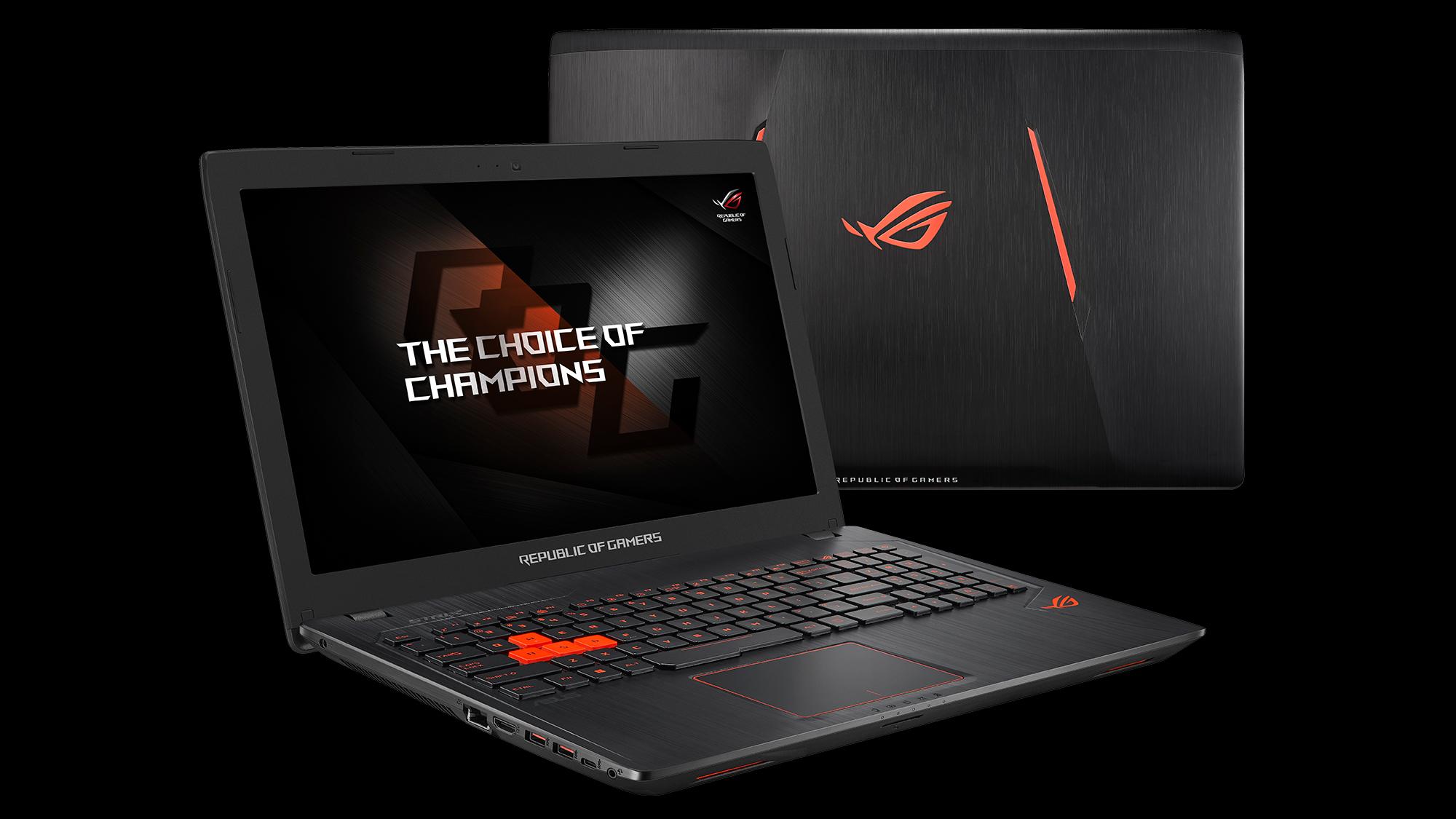 republic of gamers announces strix gl553vw gaming laptop