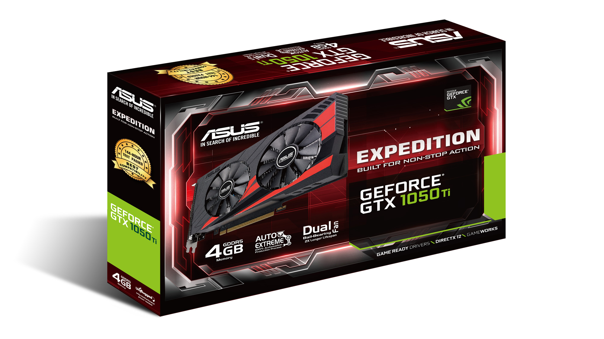 ASUS Expedition GTX 1050 Ti | ROG - Republic of Gamers Global