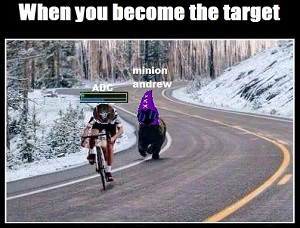 When you become the target
