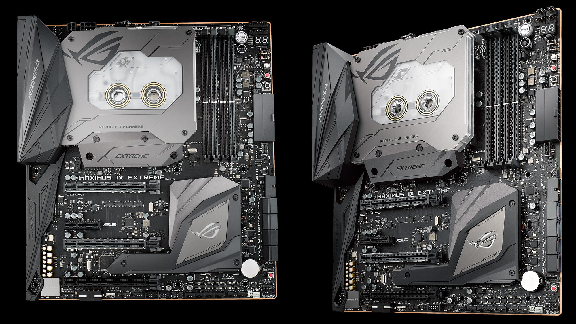 ROG Maximus IX Extreme Estas son las nuevas motherboards Z270 de ASUS
