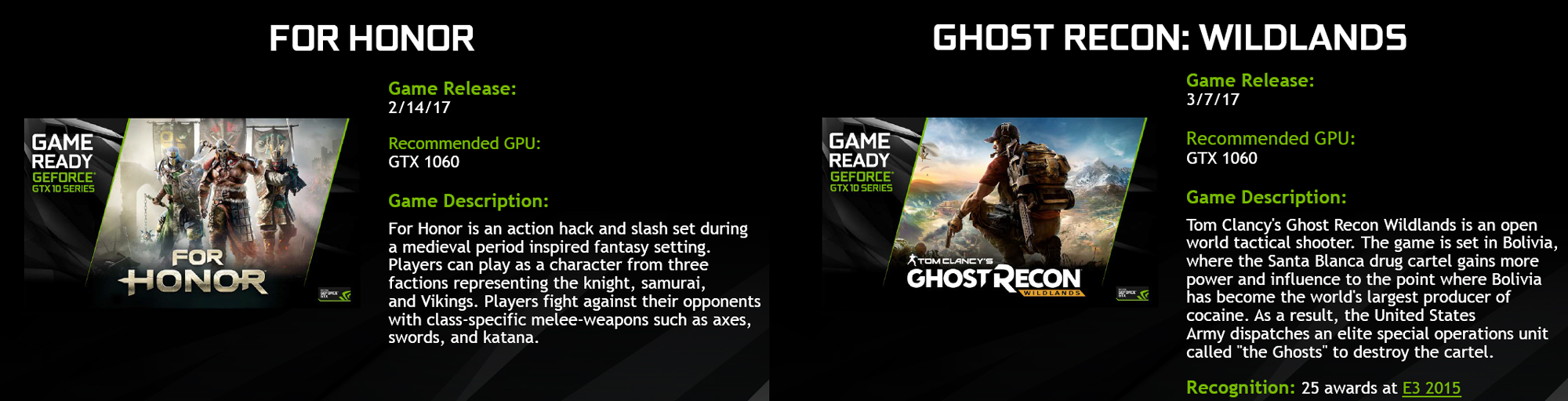 Game Bundle: For Honor or Ghost Recon for FREE with New ROG