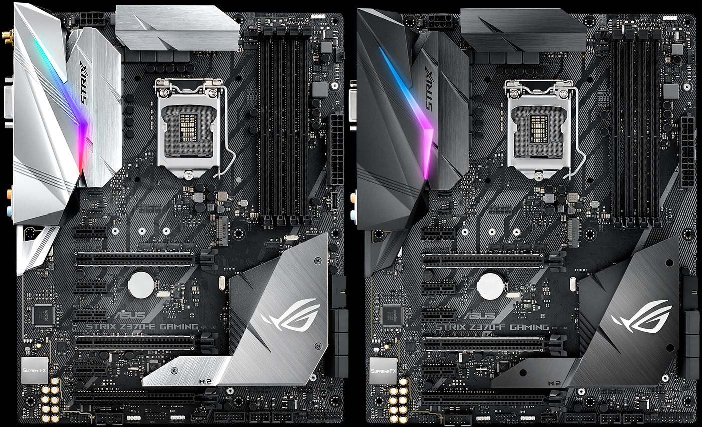 Rog Introduces New Z370 Gaming Motherboards For Coffee Lake 7 Pin Wiring Harness Difference Both Have Dual Pcie X16 Slots With Full Safeslot Reinforcement So Theyre Ready To Double Up On Graphics Monsters Like Our Strix Gtx 1080 Ti