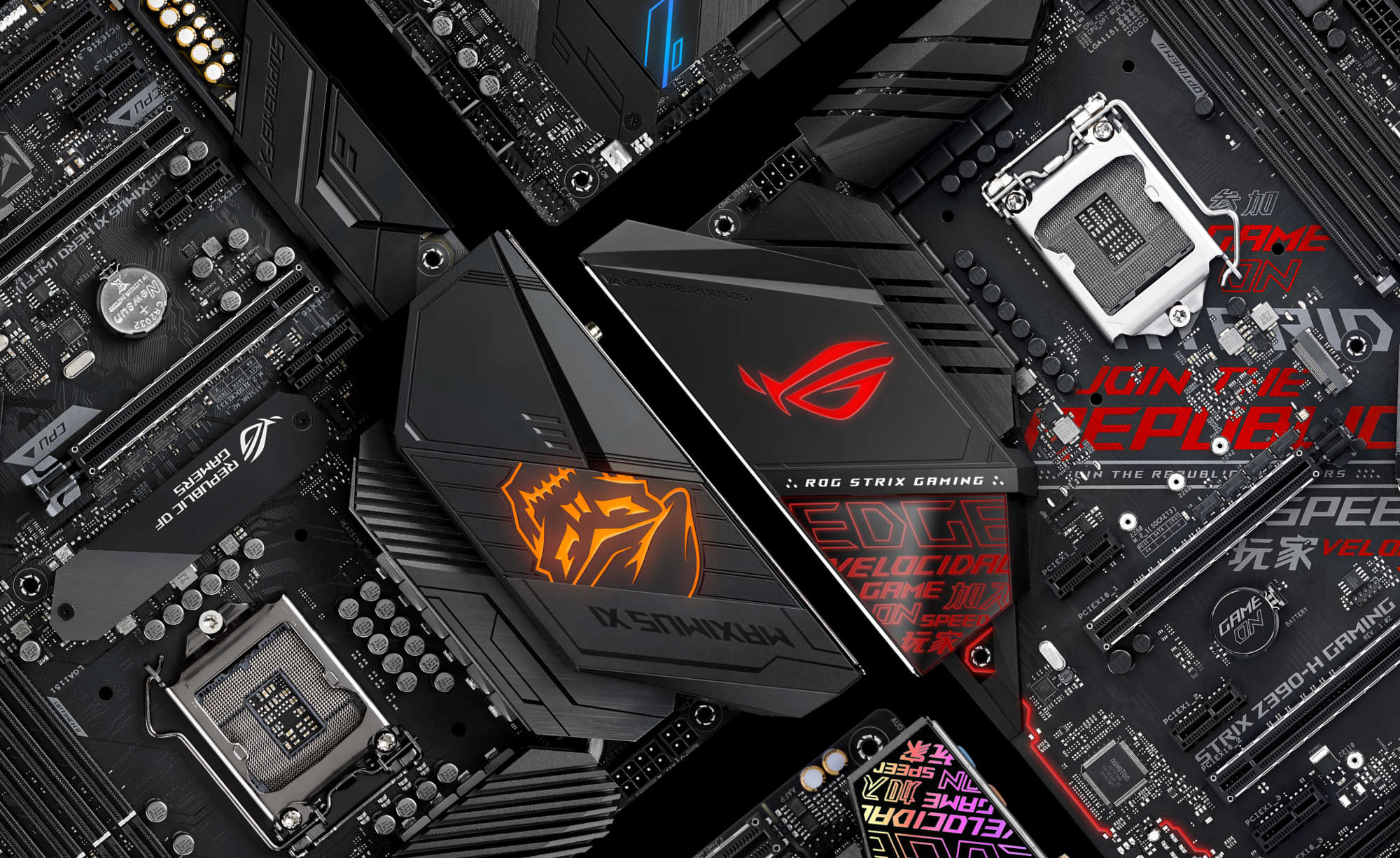 Introducing Rog Maximus And Strix Z390 Gaming Motherboards For 8 Graphic Of Technological Theme Circuit Board Boards A Feather