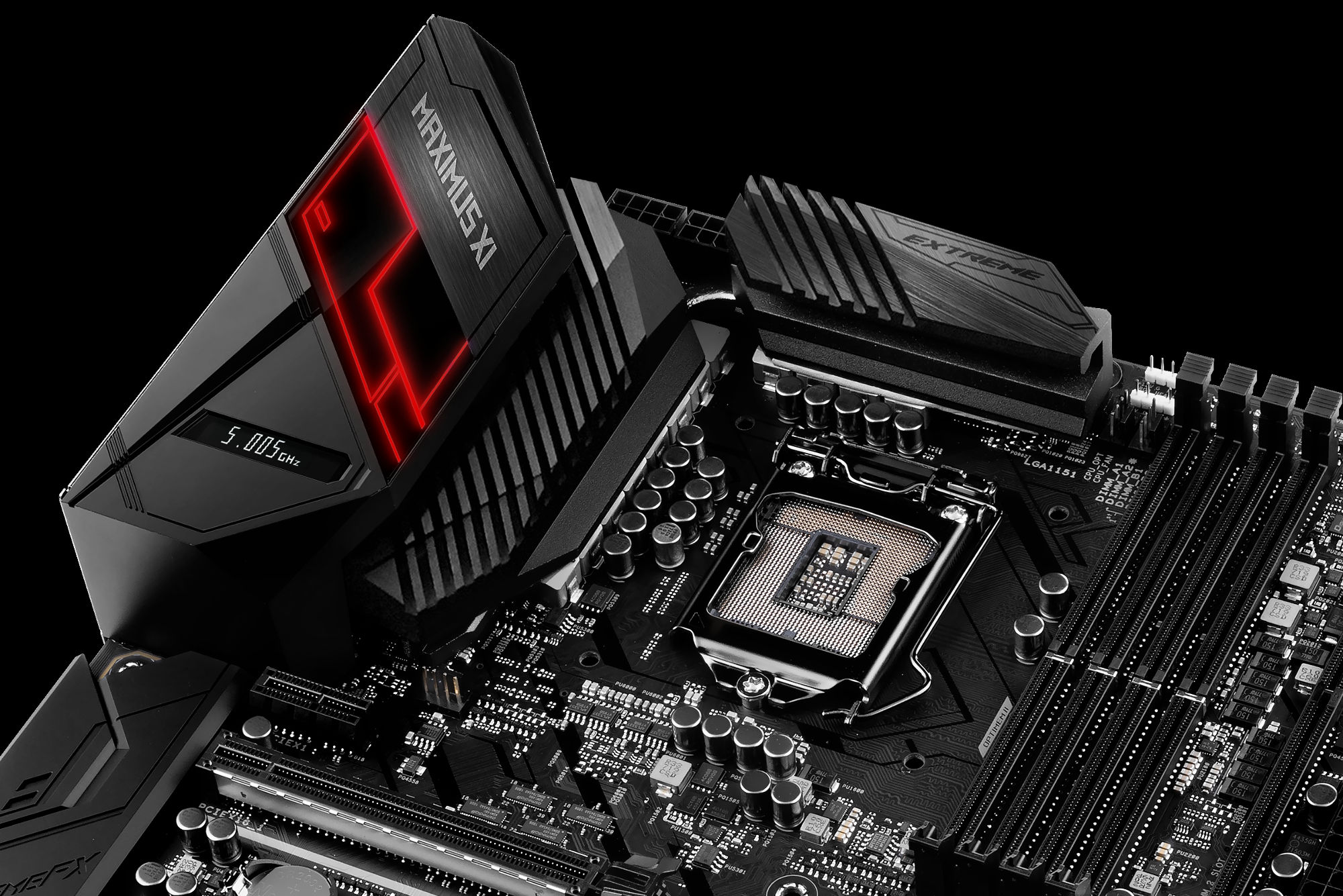 Introducing Rog Maximus And Strix Z390 Gaming Motherboards For 8 Monochrome Topology Of A Printed Circuit Board Stock Photos Image Maximusxiextreme