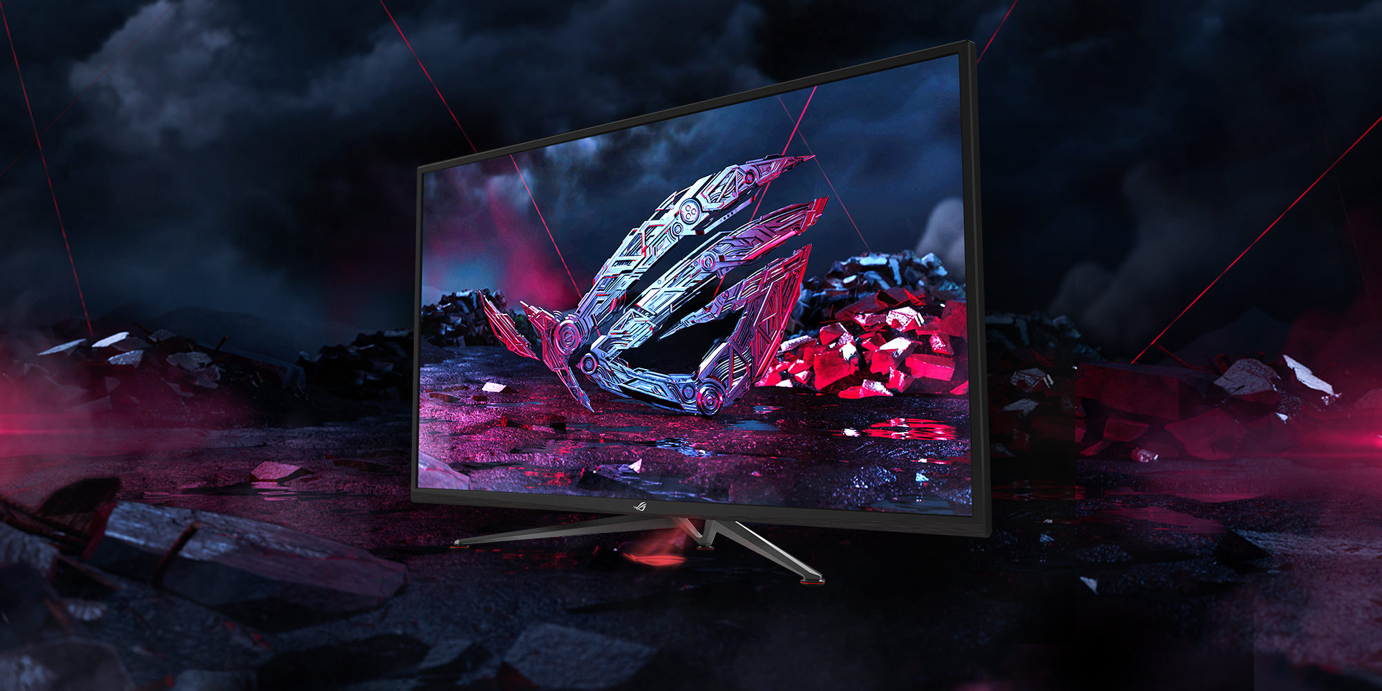 """The 43"""" ROG Strix XG438Q does big-screen gaming with"""