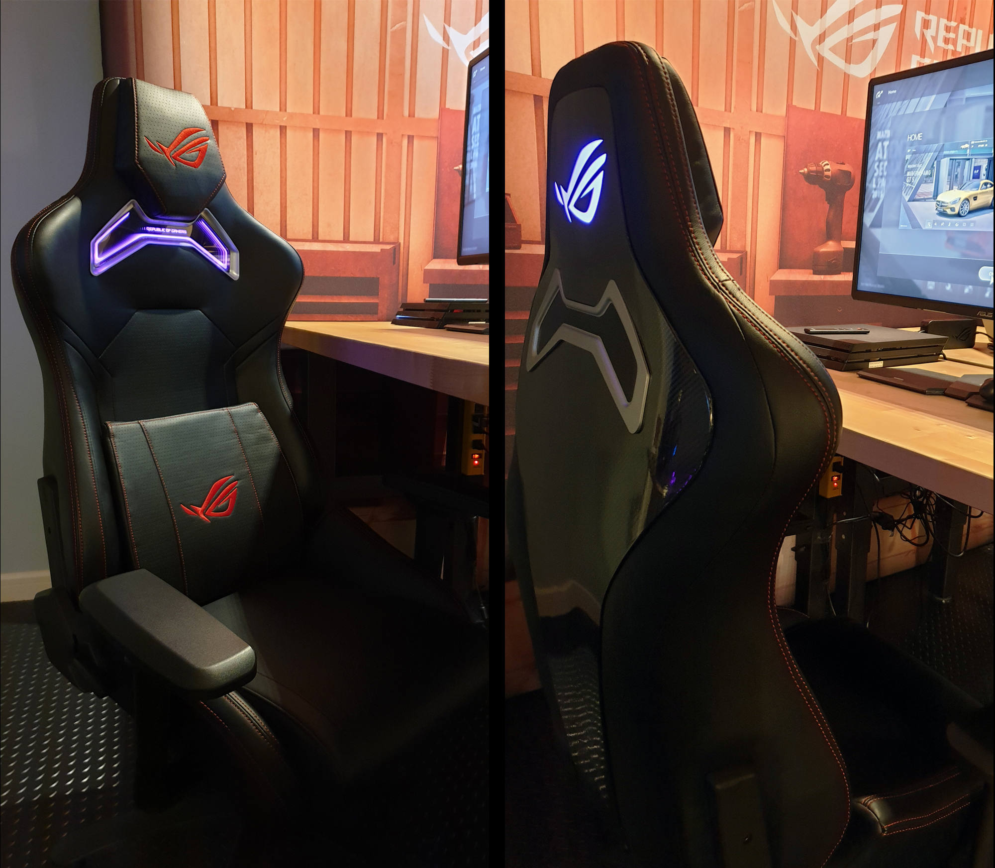 Miraculous The Rog Chariot Gaming Chair Is Decked Out In Rgb Lighting Unemploymentrelief Wooden Chair Designs For Living Room Unemploymentrelieforg