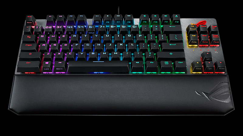 The ROG Strix Scope TKL Deluxe keyboard has everything gamers need and nothing they don't