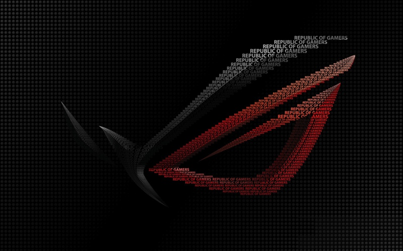 ROG Wallpaper Collection ::: ASUS ROG Typo - by snatch