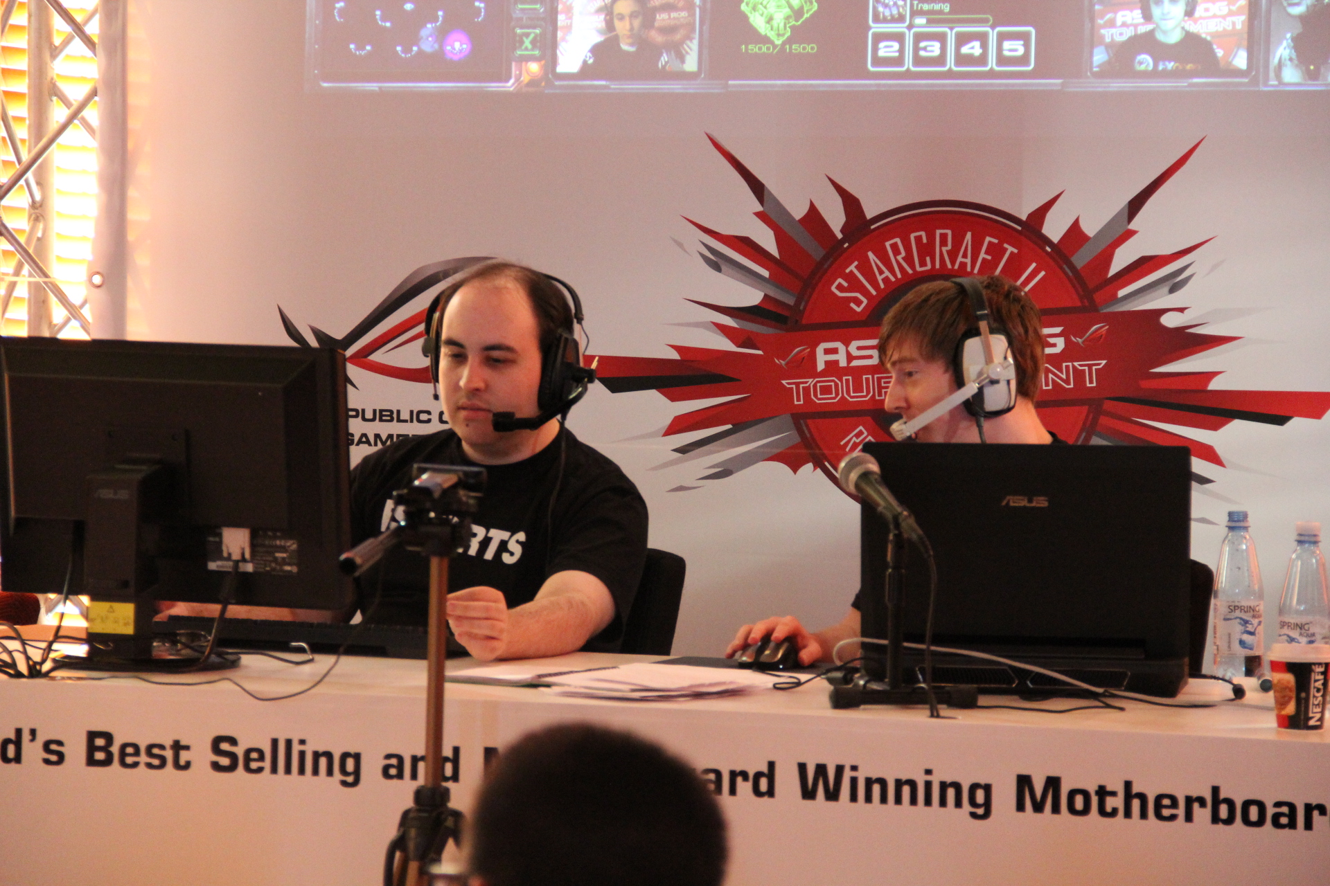World Famous Shoutcasters TotalBiscuit (to the left) and Apollo