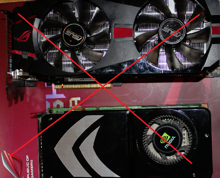 Mixed Graphics Cards No SLI
