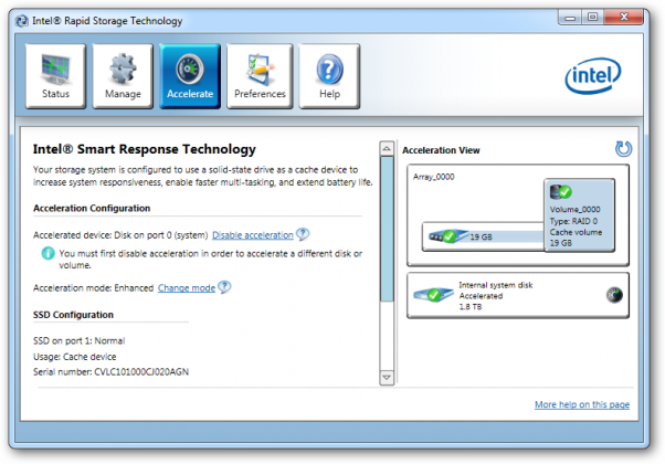 Intel Smart Response Technology User Guide