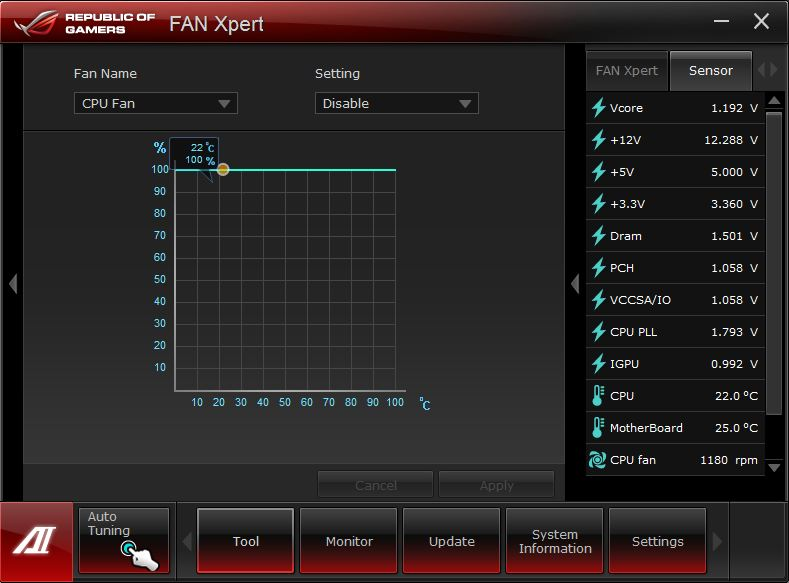 Windows 7 ASUS Fan Xpert 3.00.01 full