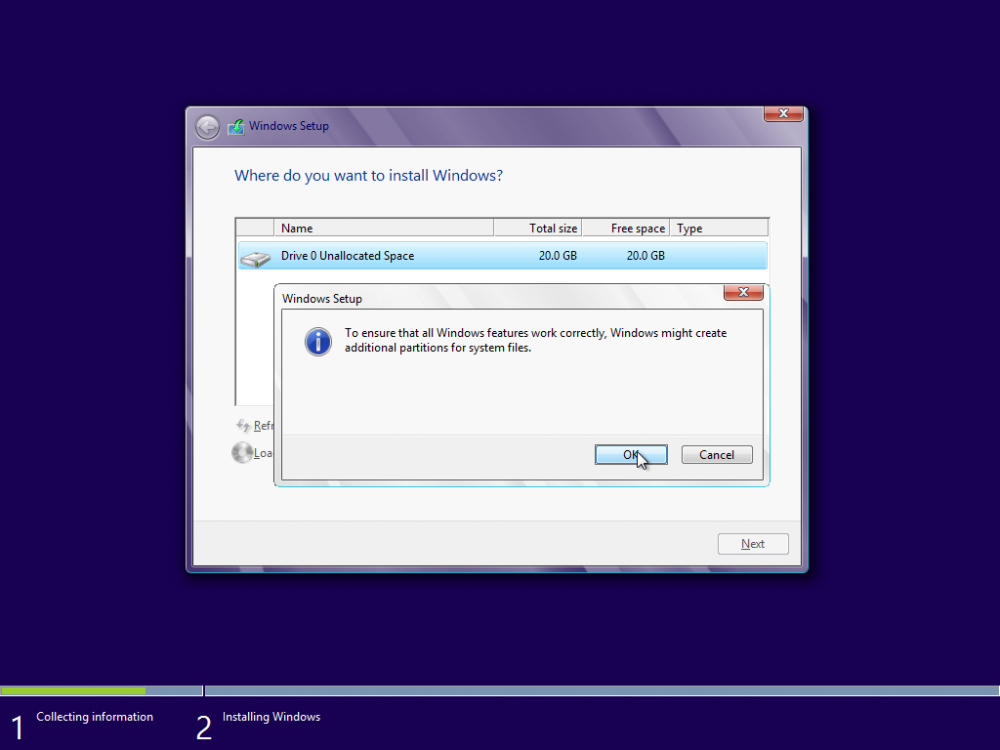 Win8 Create Additional