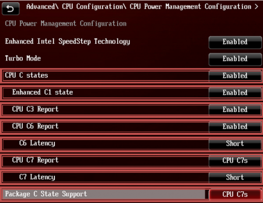 cpu package state