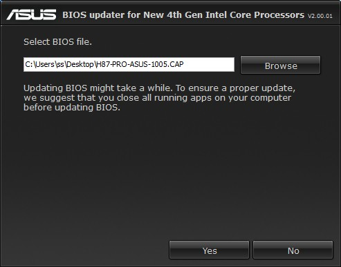 ASUS 8 Series - One click in easy-to-use application updates the BIOS to support new Intel 4th-gen CPUs