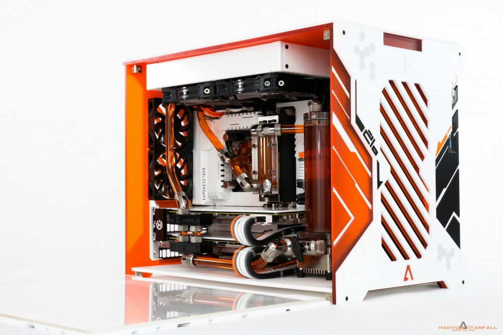 Built with the TUF Gryphon Z87 with Armor kit and painted to match ...: http://rog.asus.com/323612014/asus-tuf-motherboards/epic-mod-grab-your-armor-your-titan-is-ready/