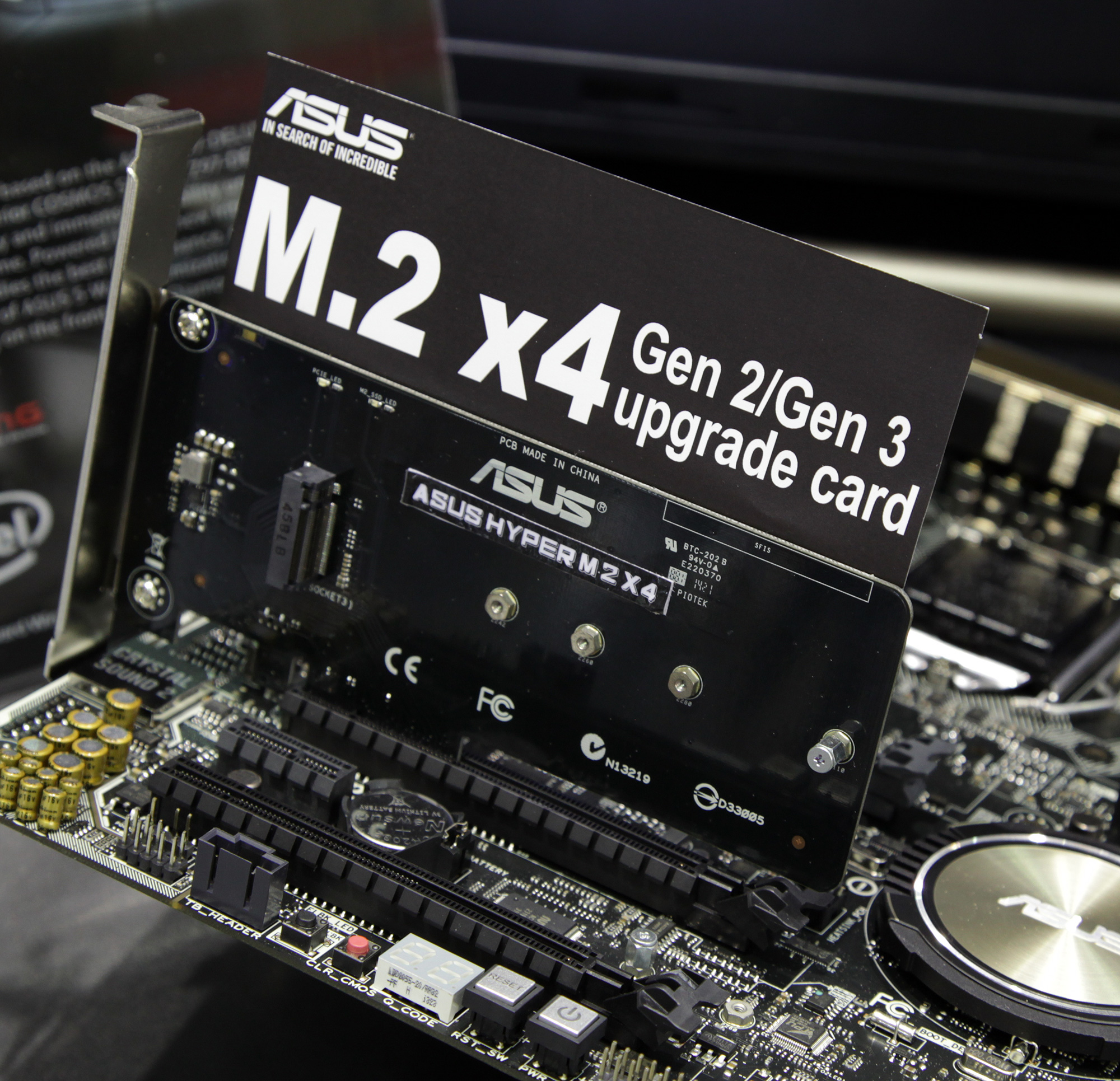 ASUS Hyper M.2 X4 - PCI-Express Gen2/3 to M.2 x4 SSD Adapter CardRelated Articles