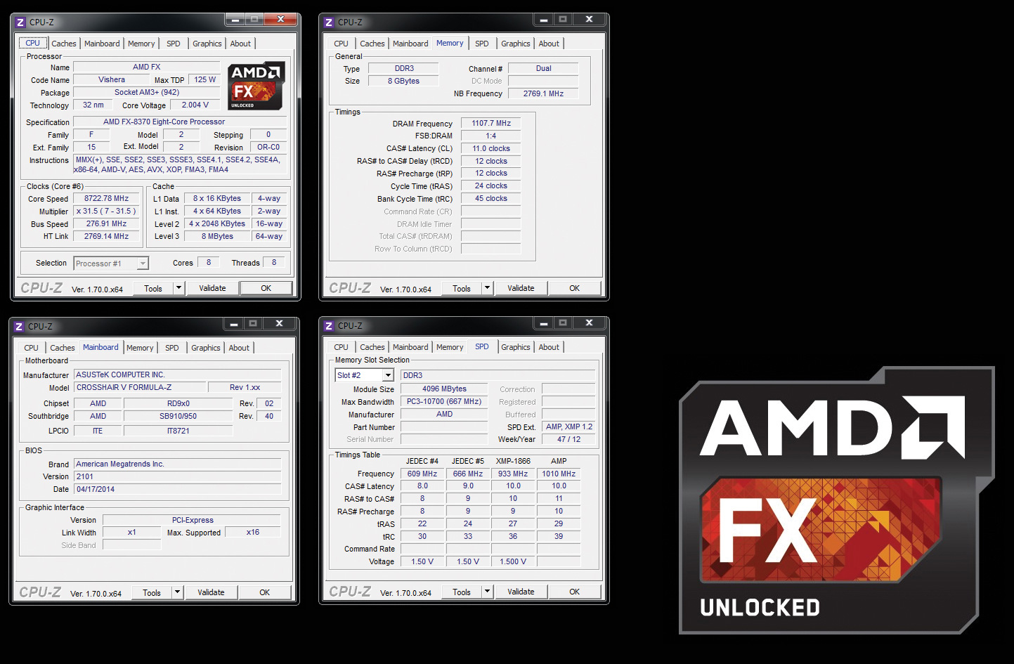 8722 78 MHz AMD FX-8370 CPU Frequency World Record on ROG