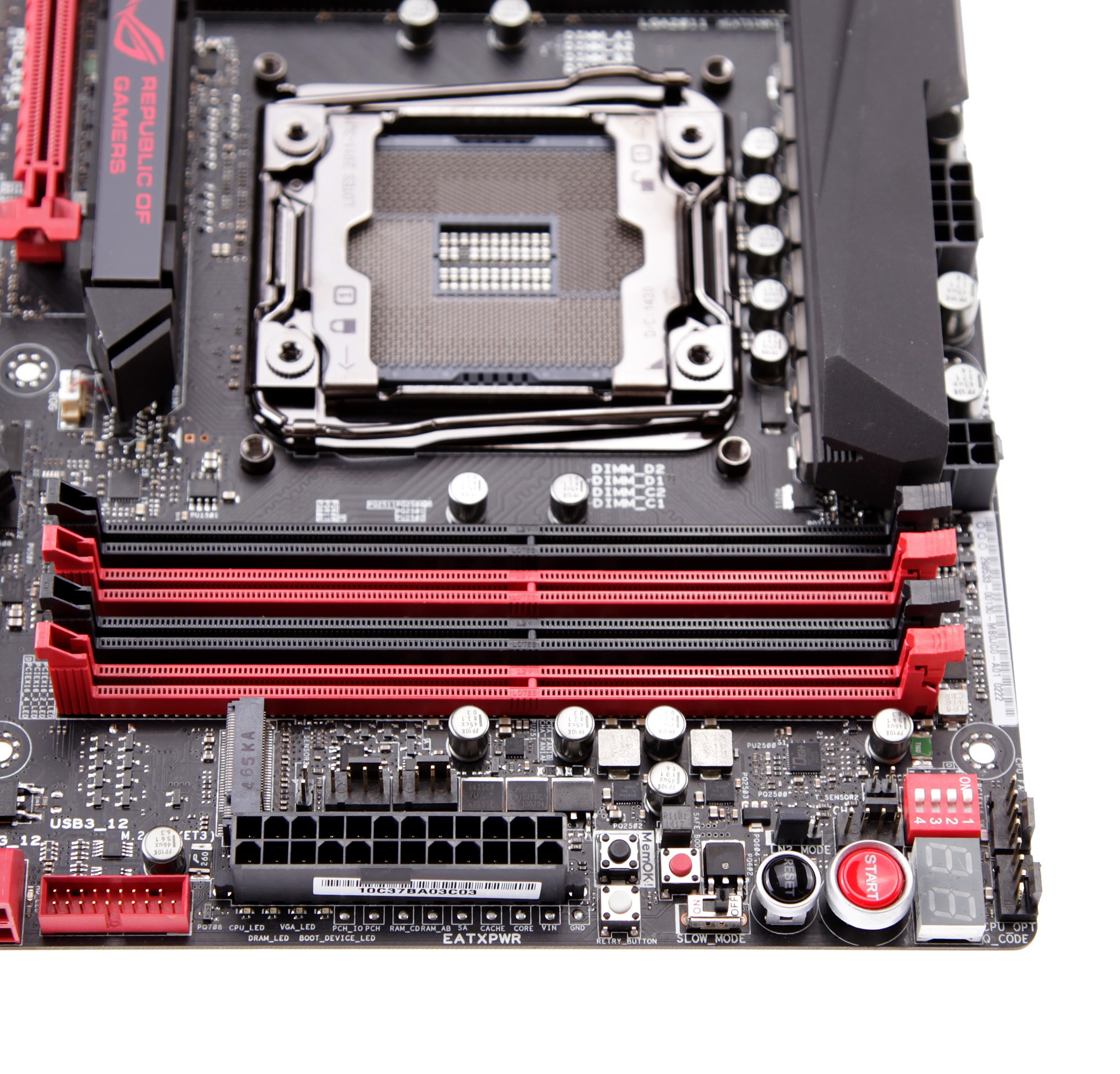 R5E_12 Motherboard buttons DIMM