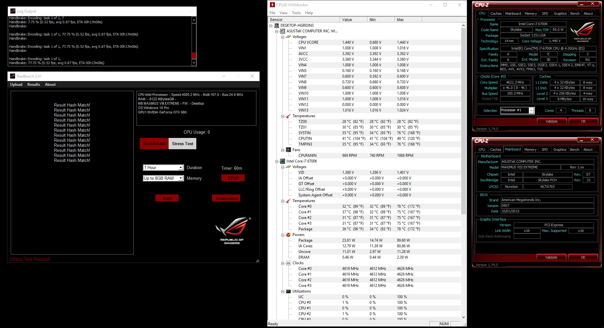 Guide: Overclocking Core i7-6700K to 4 6GHz on the Maximus