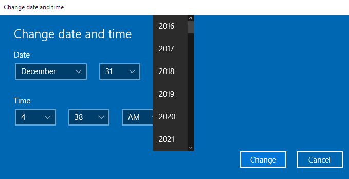 how to set the time on windows 10