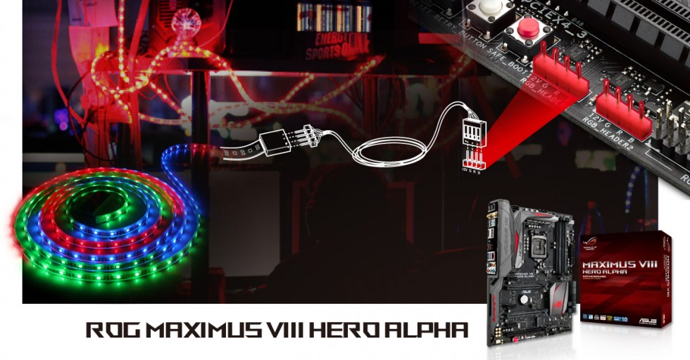 All New Aura Lighting Control And Rgb Strip Headers Rog