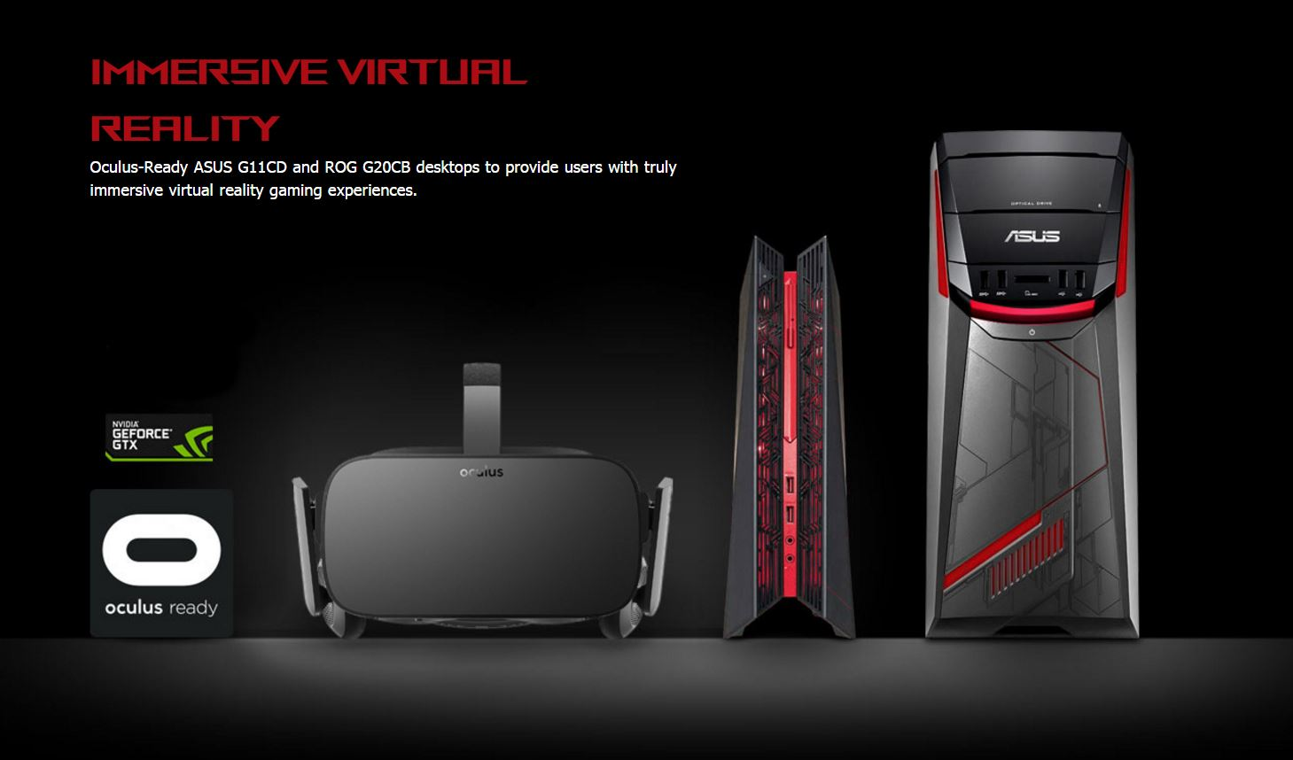 Ces Oculus Vr Ready With Rog G20 And Asus G11 Rog
