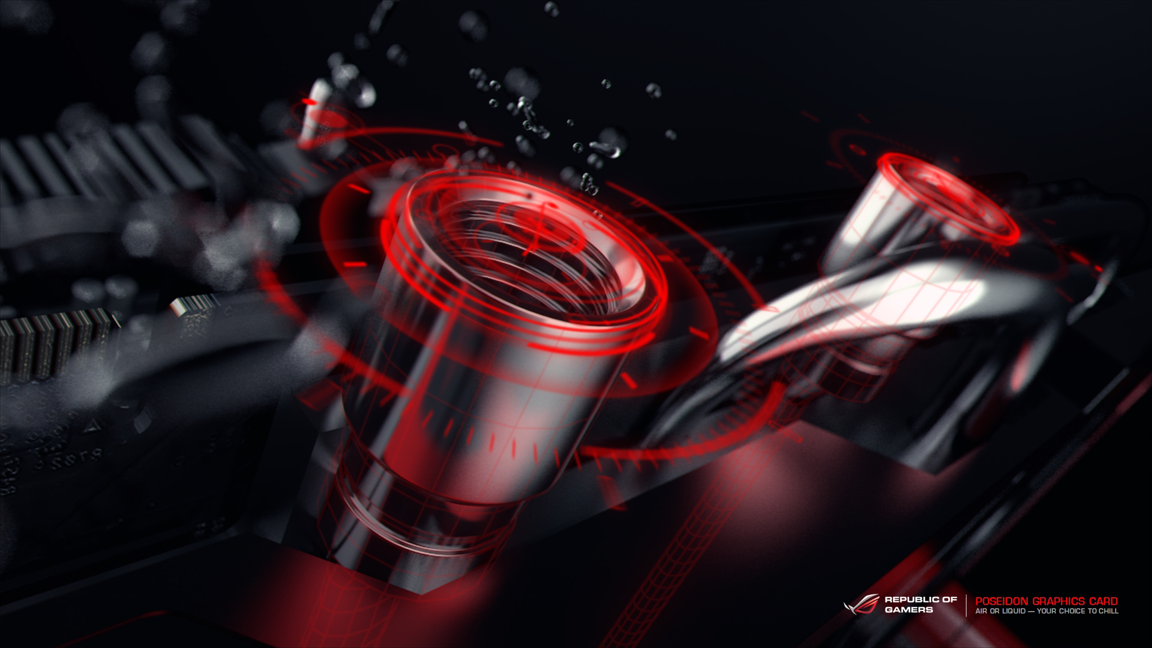 Red Asus Wallpaper: Poseidon Wallpapers [4K]